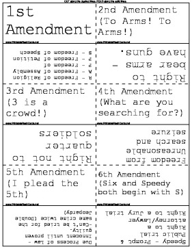 Invaluable image with bill of rights printables
