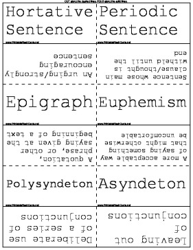 Figures of Speech and Literary Analysis template