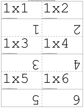 Zany image regarding multiplication flash cards printable