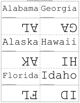 State Postal Codes template