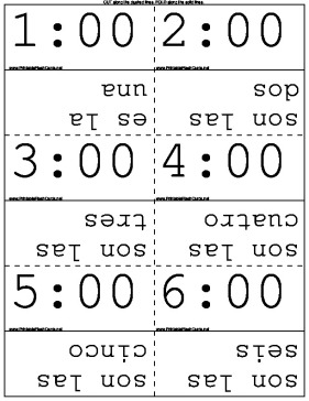 Telling Time in Spanish template