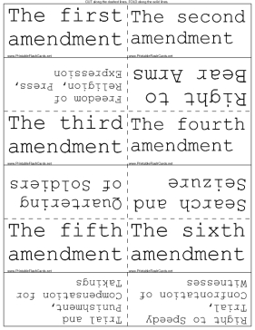 United States Bill of Rights template